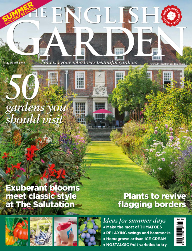 Cover of The English Garden Magazine August 2018. Rae Wilkinson Garden and Landscape Design - Garden Designer Sussex, Surrey, London, South-East England