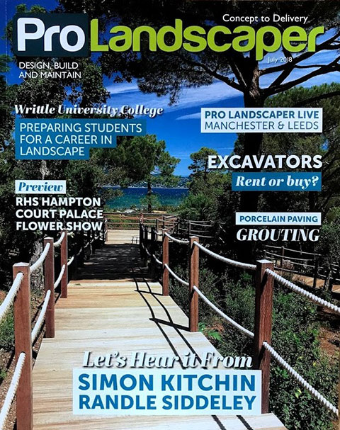Prolandscaper July 2018 Rae Wilkinson Design. Rae Wilkinson Garden and Landscape Design - Garden Designer Sussex, Surrey, London, South-East England