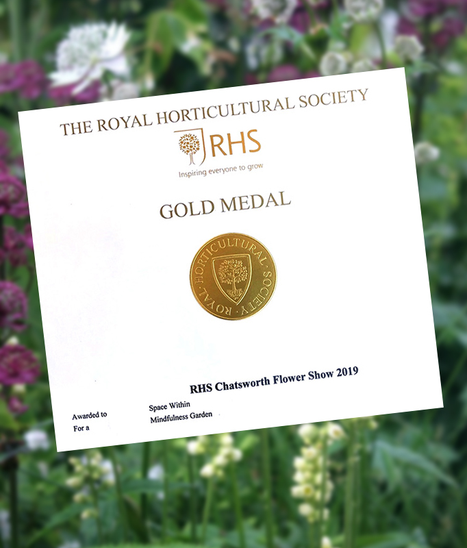 RHS Chatsworth Gold Medal awarded to Rae Wilkinson. Rae Wilkinson Garden and Landscape Design - Garden Designer Sussex, Surrey, London, South-East England