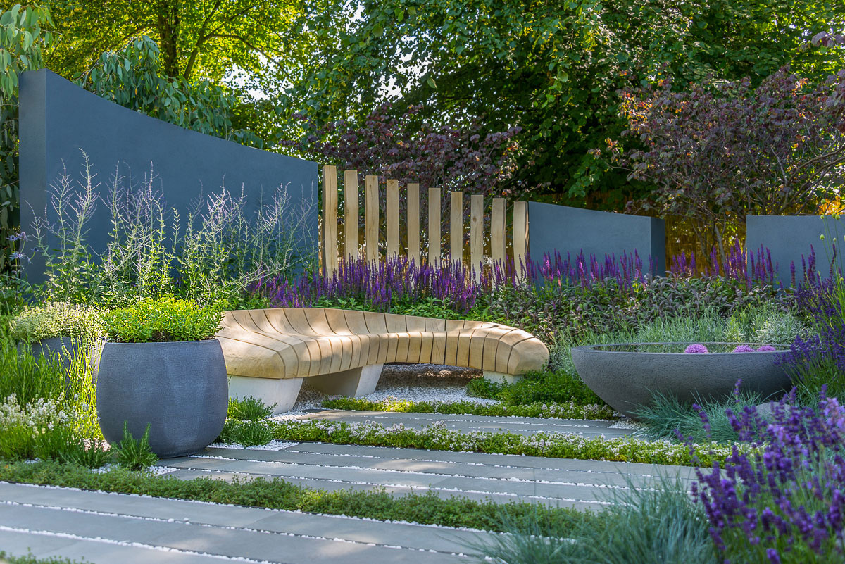 Rae Wilkinson RHS Hampton Court Show Garden. Rae Wilkinson Garden and Landscape Design - Garden Designer Sussex, Surrey, London, South-East England